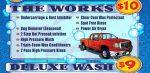 car wash menu sample